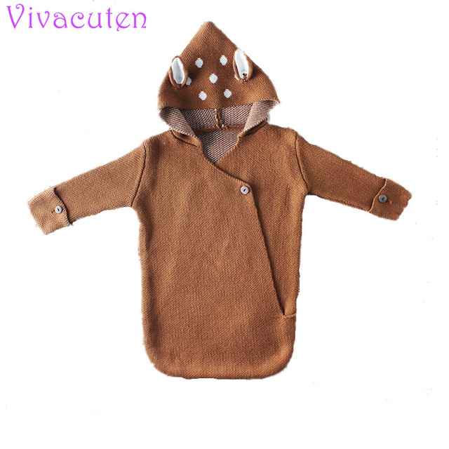 Baby Swaddle Wrap Warm Wool cartoon Crochet Knitted Newborn Infant Sleeping  Bag Baby Swaddling Blanket Sleep b14a3a2ee673