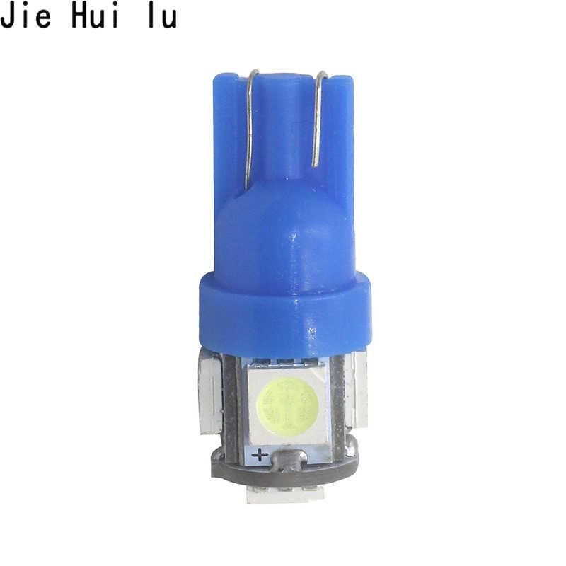 1Pcs T10 W5W หลอดไฟ LED 5050 5 SMD LED สีขาวสีฟ้าสีแดงสีเหลืองสีเขียว 194 168 Super Bright WEDGE ไฟหลอดไฟ 12V 5050 SMD