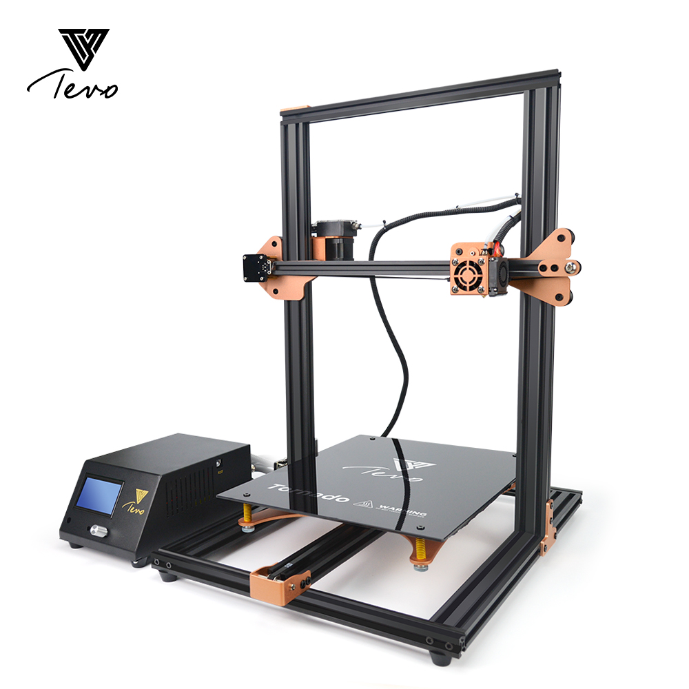 2018 TEVO Tornado Fully Assembled 3D Printer 3D Printing 3D Printer Kit 3D Machine AC heatbed Fast heating with Titan Extruder tevo tornado 3d printer 95