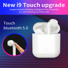 Get more info on the I9 touch Wireless earphones Air pods Mini Bluetooth 5.0 touch  Earbuds With Charging Box Mic i7 i8x i9s for iPhone Android