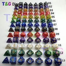 Dungeons Dragons Marble Effect Polyhedral Dice