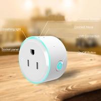 LED Light Wifi Smart Socket Intelligent Timer US Plug WiFi Wireless Remote Control Power Strip Timing