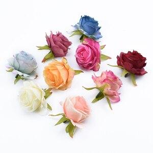 Image 4 - 6/10 stück künstliche blumen für home dekoration hochzeit auto braut zubehör freiheit diy geschenke box seide rosen blume wand