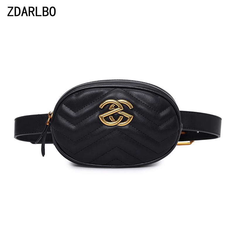 High Quality Women Fanny Pack PU Leather Waist Belt Bag Female Banana Chest Bags Designer Luxury Handbag Shoulder Crossbody Bag