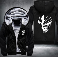New Winter Jackets And Coats Death Hoodie Anime Hiphop Luminous Hooded Thick Zipper Men Sweatshirts USA