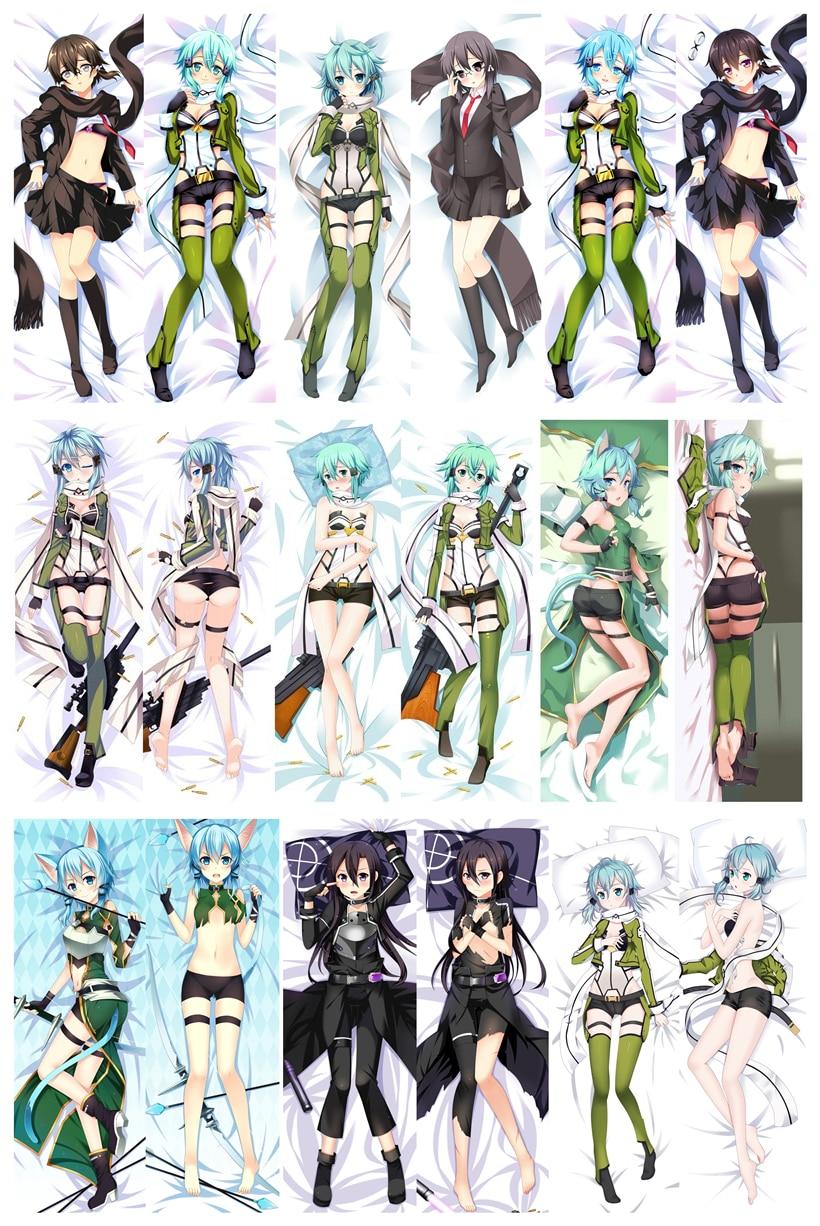 Sword Art Online Kirito Kirigaya Kazuto Dakimakura Anime Body Pillow Case Covers
