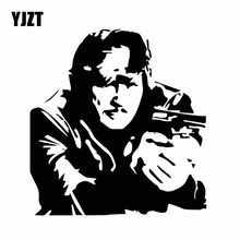 YJZT 15.5CM*16.3CM Delicate Charles Bronson Classic Actor Dazzling Vinly Decal Car Sticker Black/Silver C27-0368(China)