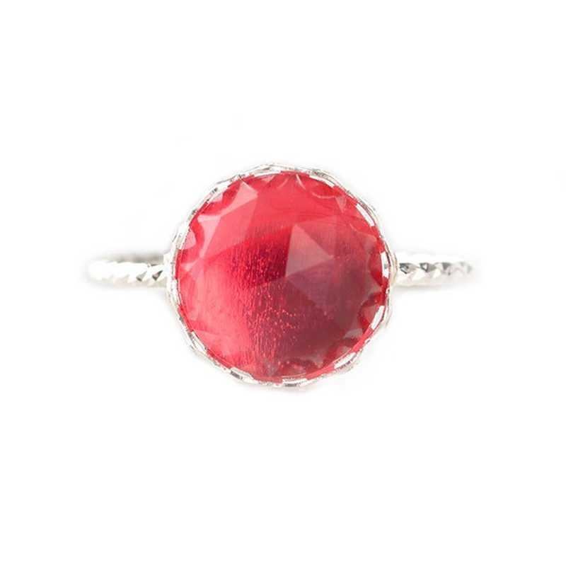 Màu đỏ Và Màu Xanh Lá Cây Nhựa Giả Đá Quý Nhẫn Thanh Lịch Nhựa Ring Cho Món Quà Thời Trang Đồ Trang Sức Kim Loại Nhỏ Gọn Vòng Đối Với Phụ Nữ