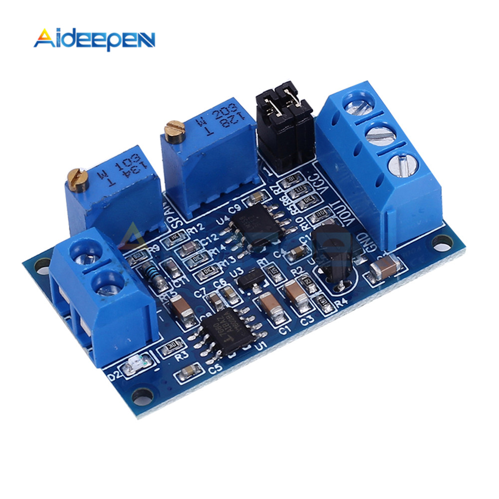 New Current To Voltage Module Board 0/4-20mA To 0-3.3V 5V 10V Voltage Transmitter S08 Drop shipping