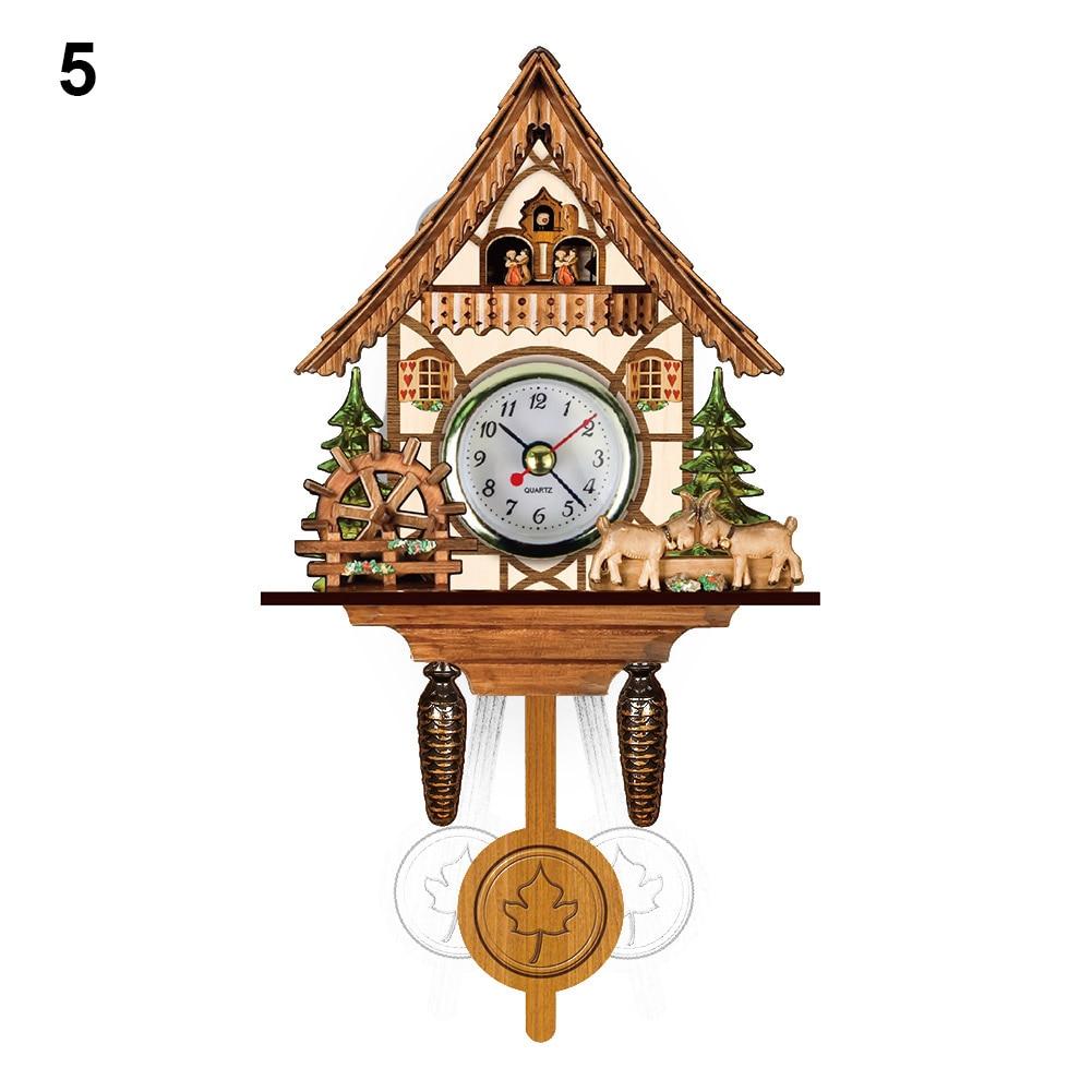 Hot New Wall Clock Antique Wooden Cuckoo Bird Time Bell Swing Alarm Watch Home Art Decor XH8Z JY20