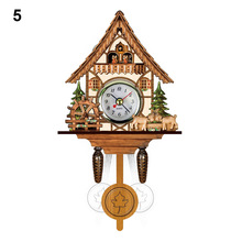 Hot New Wall Clock Antique Wooden Cuckoo Bird Time Bell Swing Alarm Watch Home Art Decor XH8Z JY20