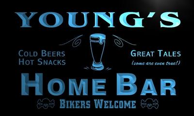 x1028-tm Youngs Home Bar Custom Personalized Name Neon Sign Wholesale Dropshipping On/Off Switch 7 Colors DHL