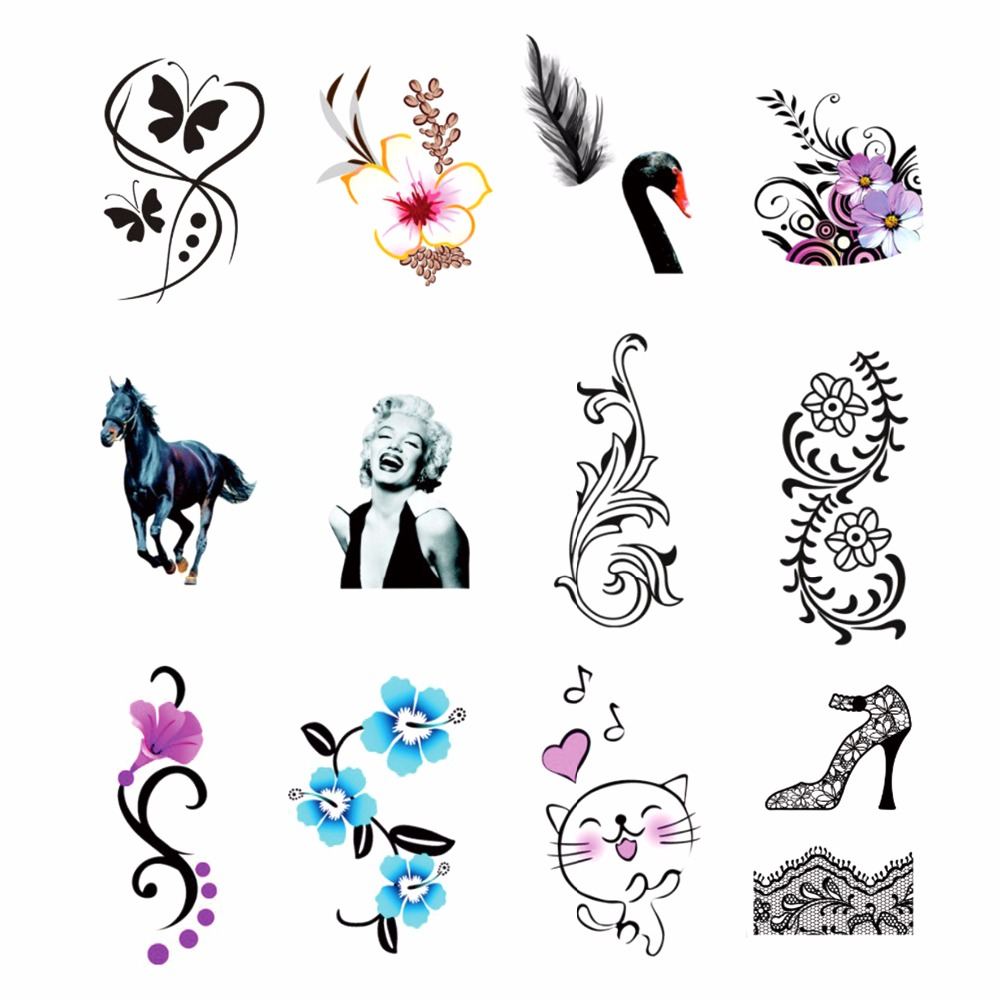 ZKO 1 Sheet Optional Water Transfer Sticker Nail Art Decals Cat Flower Pattern Nails Wraps Temporary Tattoos Watermark Tools 2016 1 sheet white color nails art sticker winter style white snowflake nail water transfer sticker fingernails decals
