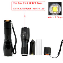 3 PCS Brightest Tactical Flashlight 8000LM XML-L2 LED Flashlight  High Powered, Zoomable Torch For Emergency Camping Hiking