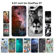 Для OnePlus 5 t случае декорации печатных Fundas Coque для OnePlus 5 T чехол для телефона мягкий силиконовый В виде ракушки 6.01 «для OnePlus 5 т крышка