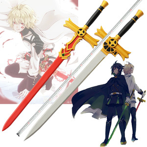 Seraph of The End Mikaela Hyakuya Red/White/purple Wooden Sword Anime Cosplay Weapon 8 Choices Christmas Prop Free Shipping(China)
