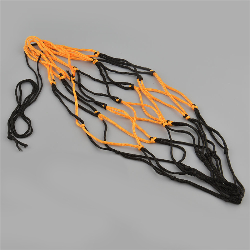 Black&Yellow Nylon Net Bag Ball Outdoor Durable Standard Carry Mesh for Volleyball Basketball Football Soccer Multi Sport Game