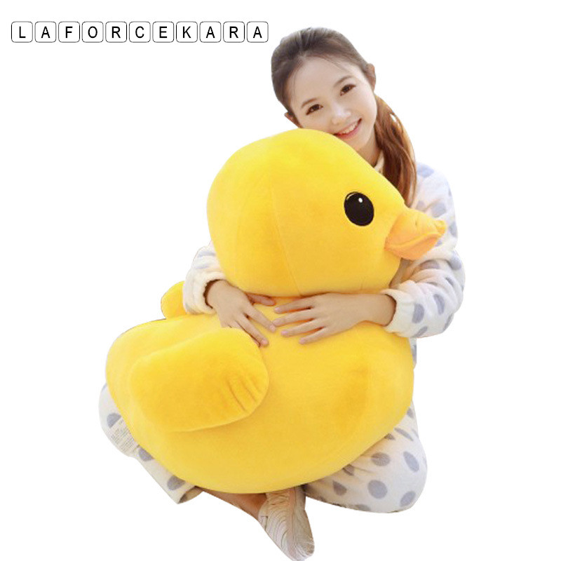 2017 Brand Big Yellow Duck Stuffed Animals Plush Toy,Cute Big Yellow Duck plush toys For Birthday baby gift size 12cm-50cm 1pcs 50cm stuffed dolls rubber duck hongkong big yellow duck plush toys hot sale best gift for kids girl