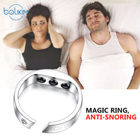 BOLIKIM Acupressure Anti Snore Ring Acupoint Magnetic Treatment Reflexology Against Snoring Solution Device Apnea Sleeping Aid