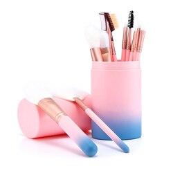 Bonne mode, ensemble de pinceaux de maquillage de Taklon, multicolore, pour femmes, Kit d'outils professionnels de maquillage, lisse, doux, pour artiste, 12 pièces