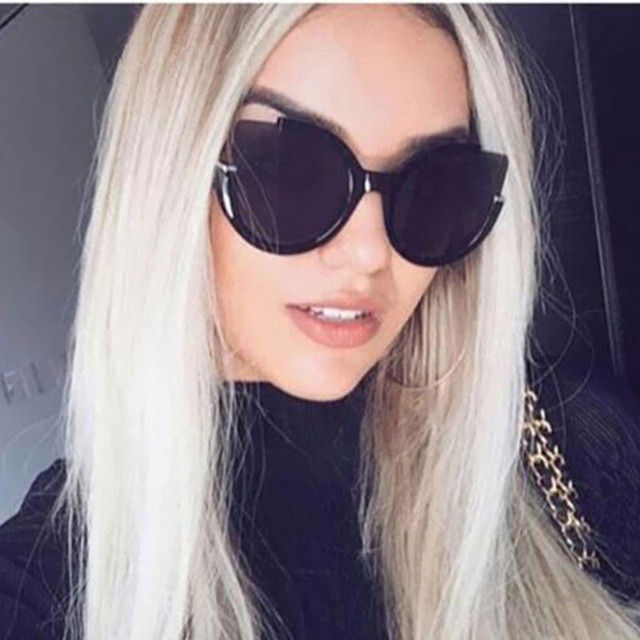 fashion brand design cat eye sunglasses women shades mirror driving glasses retro vintage female. Black Bedroom Furniture Sets. Home Design Ideas