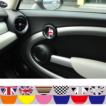 Aliauto 2 X Car Decal Inside Door Handle Sticker For BMW MINI COOPER Countryman R50 R52 R53 R55 R56 R57 R58 R59 R60 R61 R62 2pcs set door rear view mirrors cover case sticker decal car styling for mini cooper one s r50 r52 r53 2002 2006 accessories