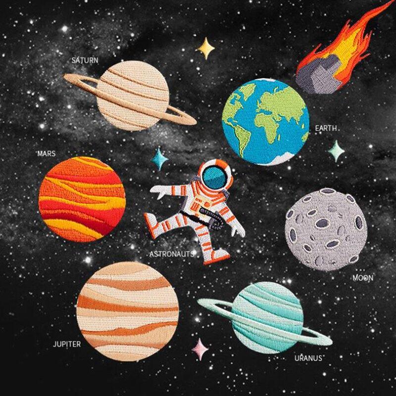 32.62руб. 15% СКИДКА|Набор стильных наклеек ZOTOONE 12, подвеска в виде космонавта и планеты, наклейки патчи для одежды, вышивка|patch style|patches for clothing|stickers patches - AliExpress