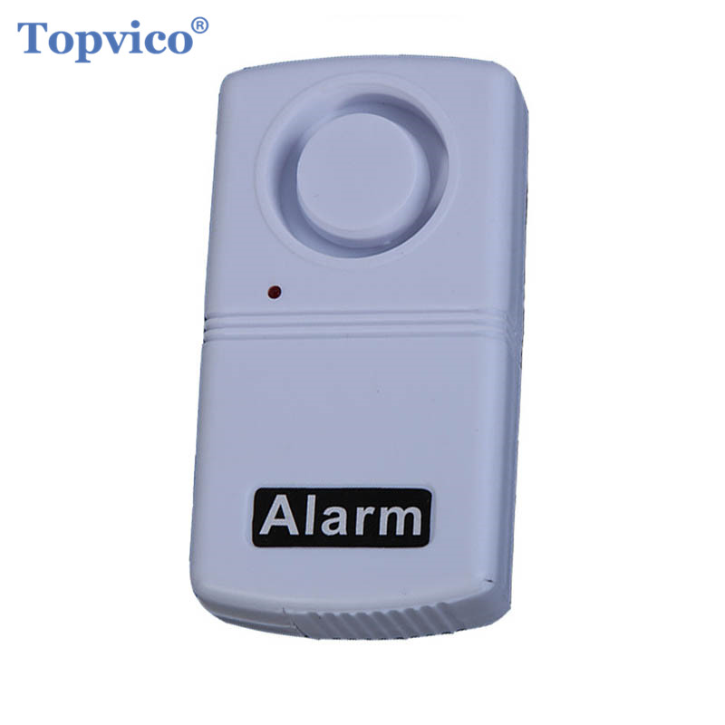 Topvico Mini Anti-Theft Vibration Shock Detector Sensor Alarm Wireless Home Security Alarm System 120dB Voice Door Window Car
