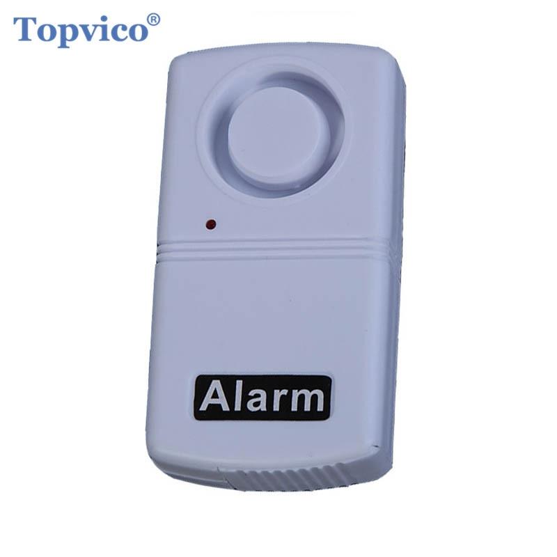 Topvico Mini Anti-Theft Vibration Shock Detector Sensor Alarm Wireless Home Security Alarm System 120dB Voice Door Window Car