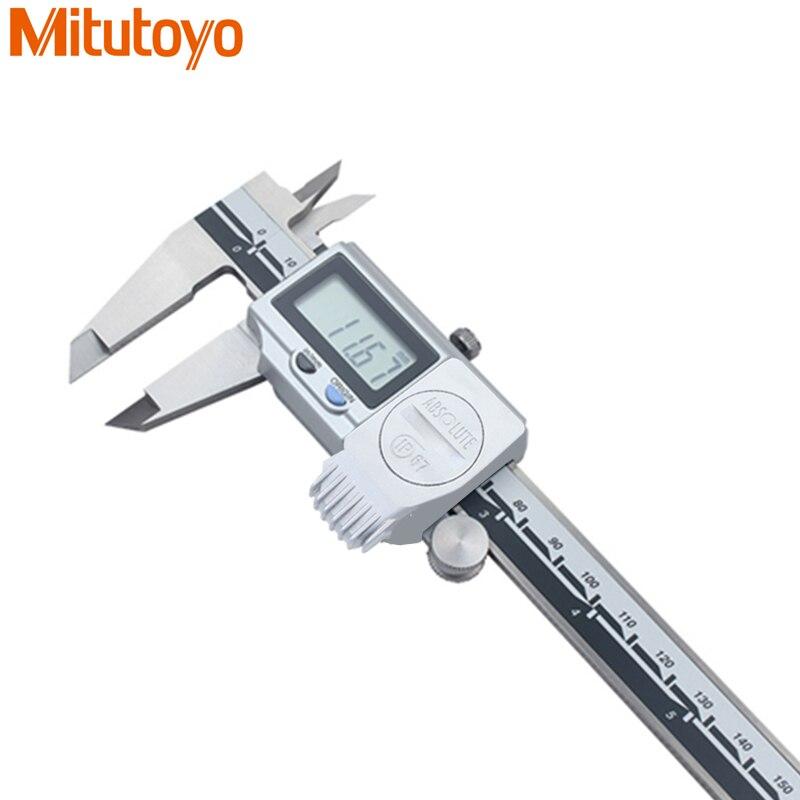 100% D'origine Japon Mitutoyo IP67 L'eau-Preuve Numérique Étrier 0-150mm/0.01mm Vernier Étriers Micromètre jauge outil De Mesure