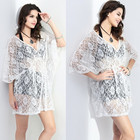 Save 1.9 on Tropical Quality Sexy Lace Women Dress White Beach Summer Style Brand Vestidos De Festa Fashion Femininas Summer Dress