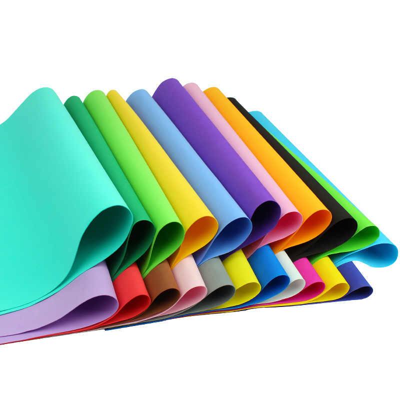 Papel de esponja Foamiran de 20 uds, 50x50 cm, papel artesanal para manualidades de EVA, manualidades DIY, materiales de corte, papel de espuma, decoración de guardería, regalo para niños