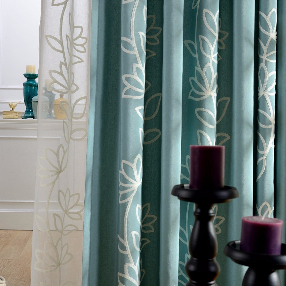 High Quality Jacquard Stereo Embroidery Curtain Cotton For Living Room Bedroom Modern Tulle Kitchen Sheer