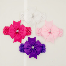Classic headbands hair elastic bands ribbon bows kids head wraps accessory lace satin flower hairband headwrap