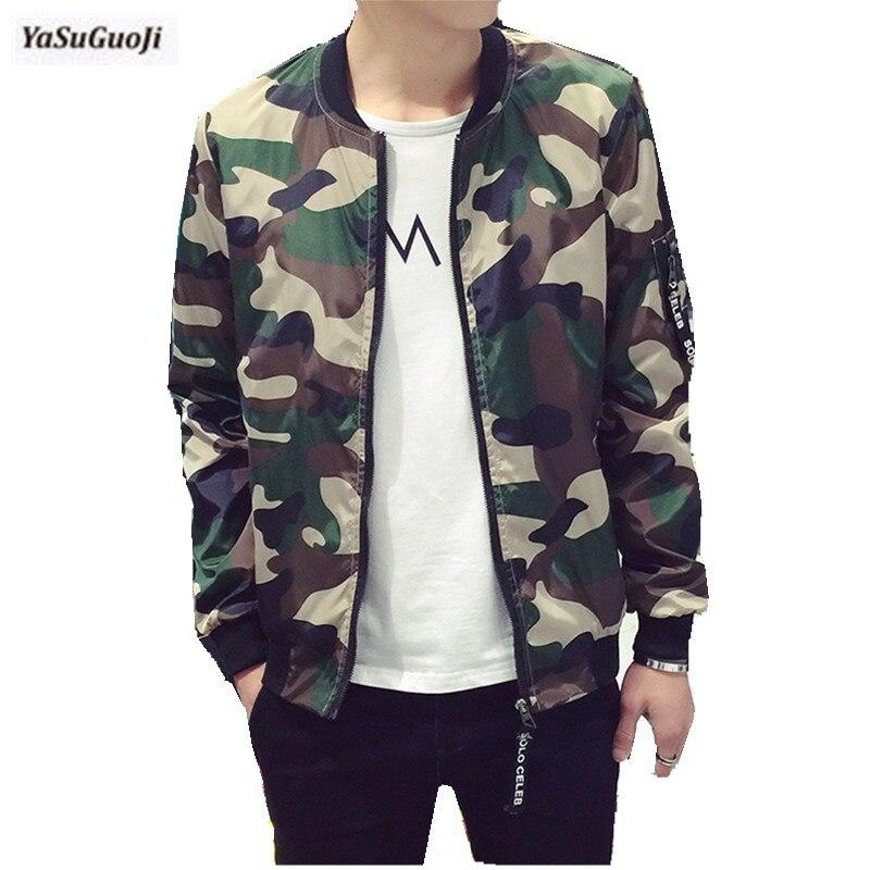 100% Waar Nieuwe 2019 Mode Camouflage Dunne Jas Mannen Militaire Stijl Bomberjack Mannen Veste Homme Herenkleding Plus Size M-5xl /jk14 Producten Worden Zonder Beperkingen Verkocht