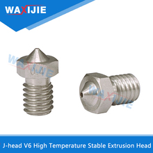 5pcs E3d V5 V6 Nozzle Stainless Steel Size 0.2 0.3 0.4 0.5 0.6 0.8mm Threaded M6 For 3D Printer Extruder 1.75mm 3.0mm Filament