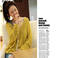 snowshine #3001  Women V-Neck Oversized Batwing Slouch Knit Jumper Loose Sweater YE   free shipping zs