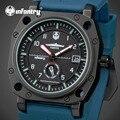 INFANTERÍA Reloj de Los Hombres de la Marca de Lujo Del Cuarzo de Japón de Pulsera Correa de Caucho Dial Grande Impermeable Luminosa Relojes Relogio masculino