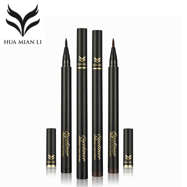 HUAMIANLI Brand Super Black Brown Liquid Eye Liner