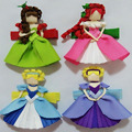 hand customize free shipping 18pcs Hair Bow Snap Clips, Barrettes hair accessories