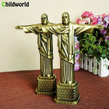 цена на Creative Miniature Figurines Home Decoration Accessories Metal Crafts Brazil Statue Jesus Ornaments Home Interior Decor Souvenir