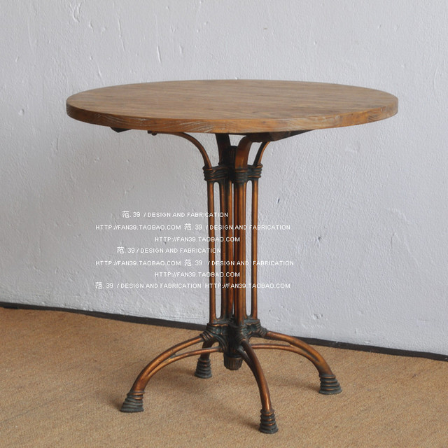 French Mediterranean To Do The Old Small Round Metal Frame Leisure - Round metal cafe table