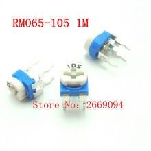 50 PCS 1 M ohm 105 RM065-105 Trimpot Trimmer Potenciômetro RM065 RM-065 resistor variável frete grátis