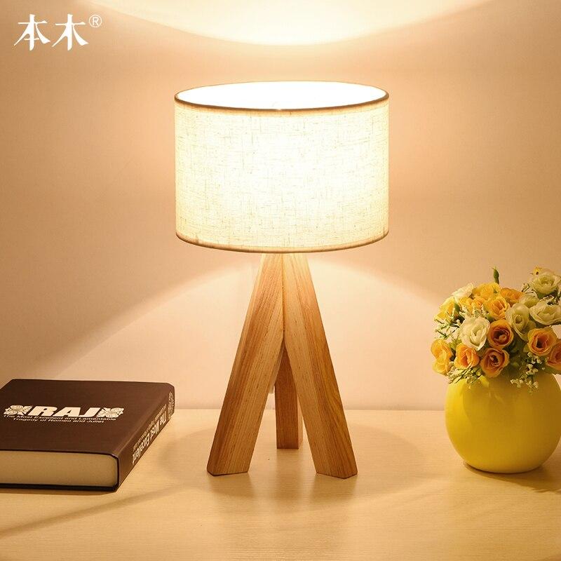 Simple Tissu Lampe de Table Dimmable Linge Table Lampes Chambre De Chevet Petite Lampe Décoration de La Maison Lampe De Bureau