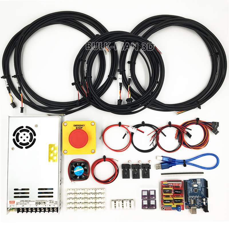 GRBL Based UNO R3 with CNC Shield V3 and DRV8825 stepper driver kit Controller Bundle for