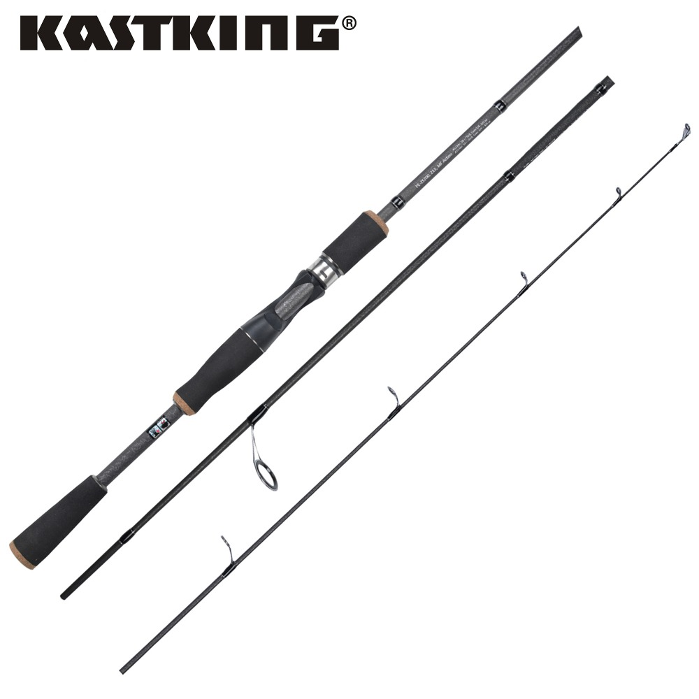KastKing 1.98M 2.10M 2.40M Carbon Fiber Casting Lure Spinning Fishing Rod With EVA split and Grips Stainless Steel Guides