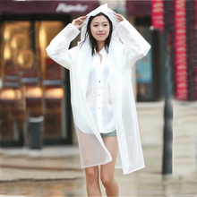 цена на Outdoor Trench Waterproof Women Plastic EVA Long Translucent Raincoat Men Hooded Travel hiking Rain coats Jacket