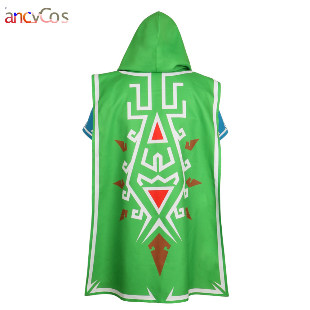 Halloween The Legend of zelda breath of the wild Link Green Cloak Costume Cosplay Accessories Game Anime Japanese
