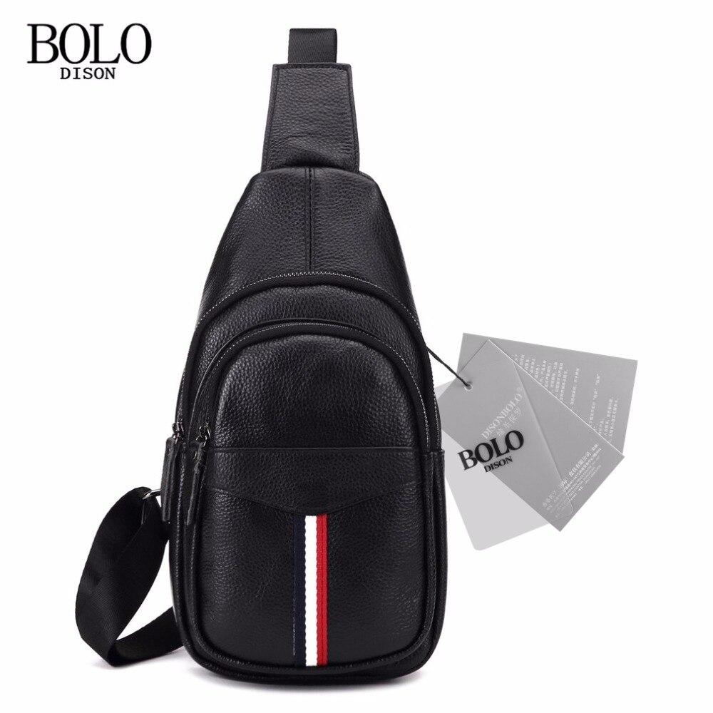 Trendy Design Men Cow Leather Sling Chest Bag Travel Men Chest Crossbody Bag Shoulder Bag Black slim fit design mega storage capacity holster shape chest bag for men armpit oxter sling bag