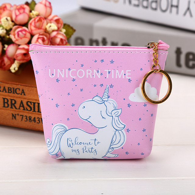 Unicorn Patterned Coin Purse for Kids